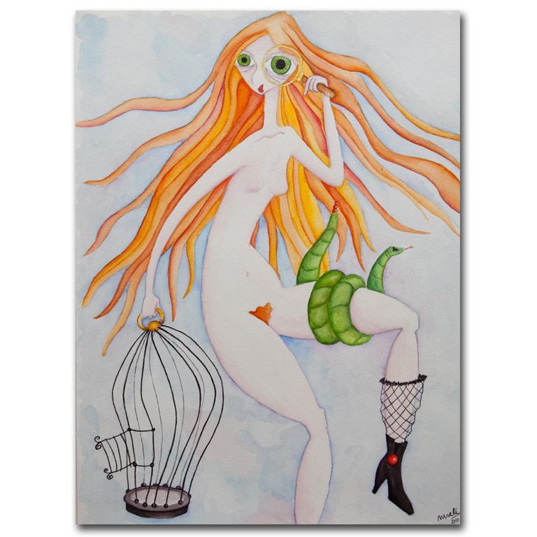 print acuarela A4 Lilith