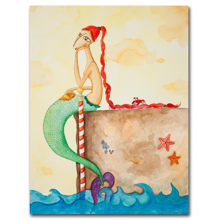 print acuarela A4 Sirena